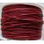fil coton cire rouge fonce 1mm