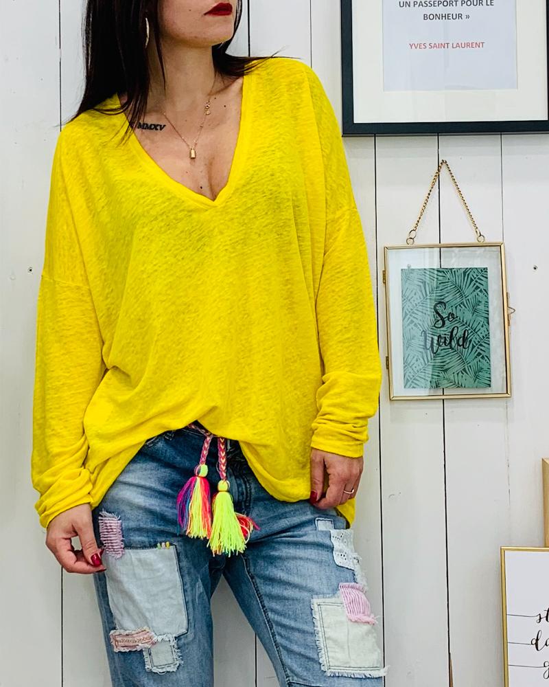 T-shirt JANE jaune