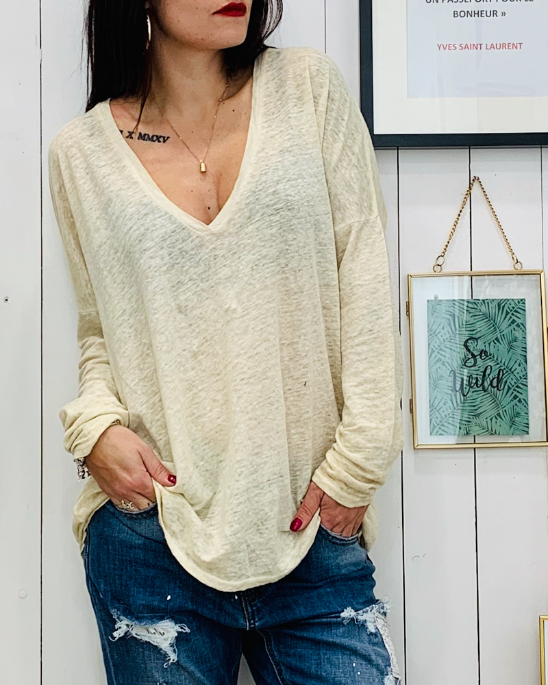 T-shirt JANE beige