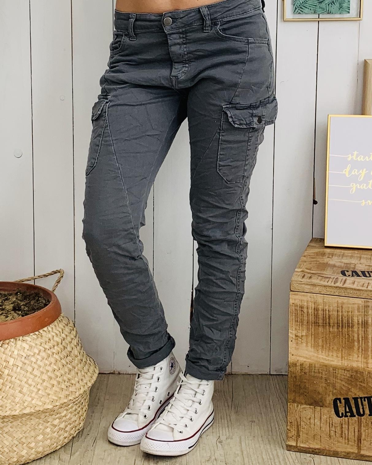 Pantalon NATHAN gris