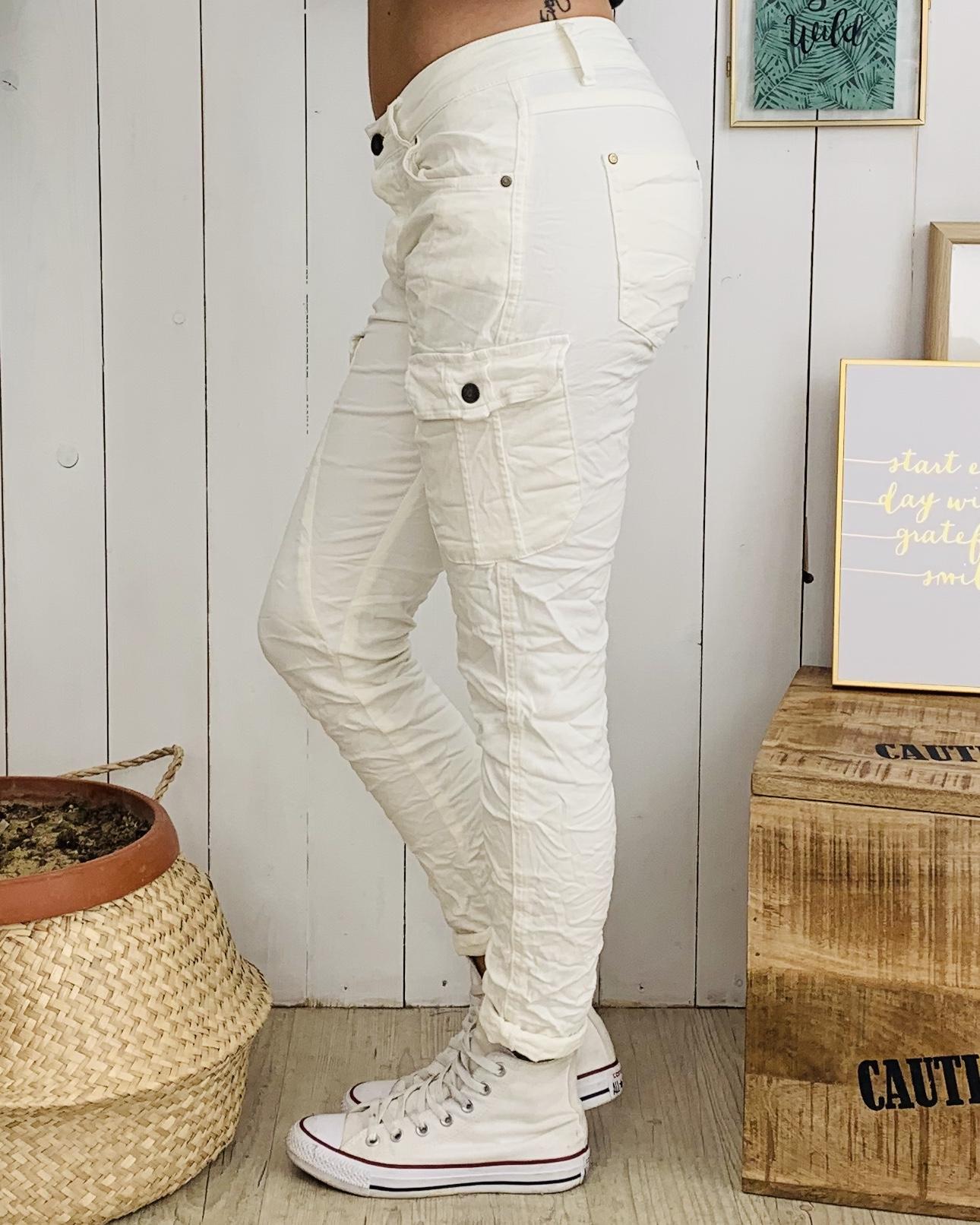 Pantalon NATHAN blanc cassé