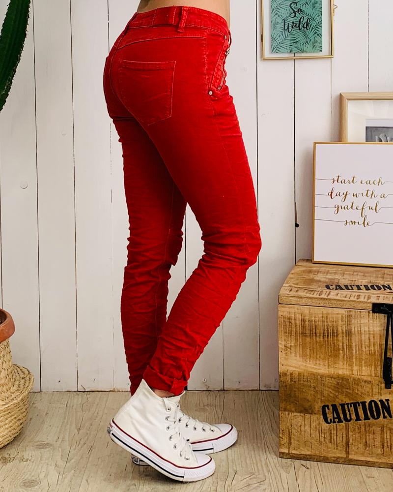 Pantalon SCOTTY rouge