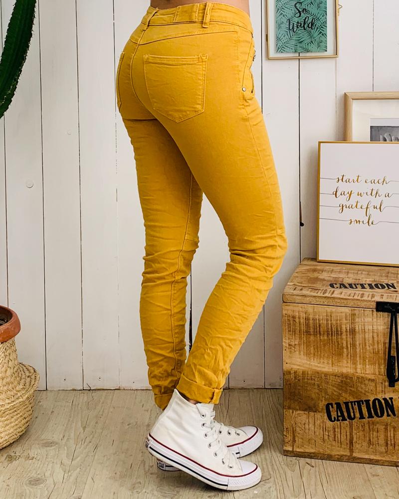 Pantalon SCOTTY moutarde