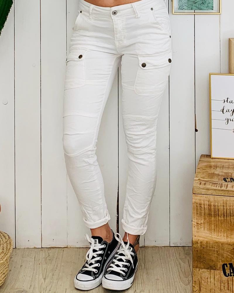 Pantalon MAXIME blanc