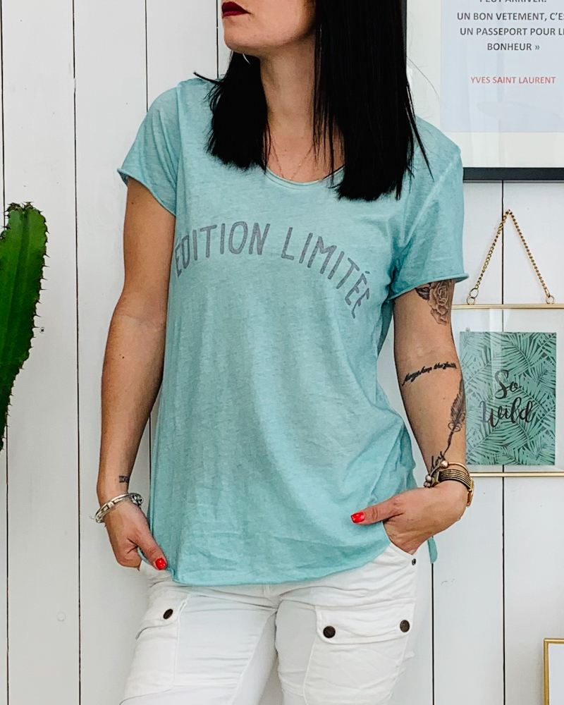 T-shirt EDITION LIMITEE turquoise