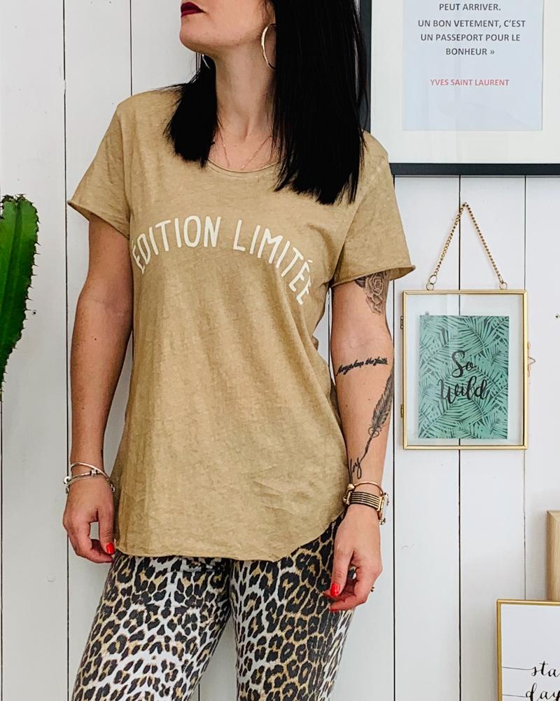 T-shirt ÉDITION LIMITÉE camel