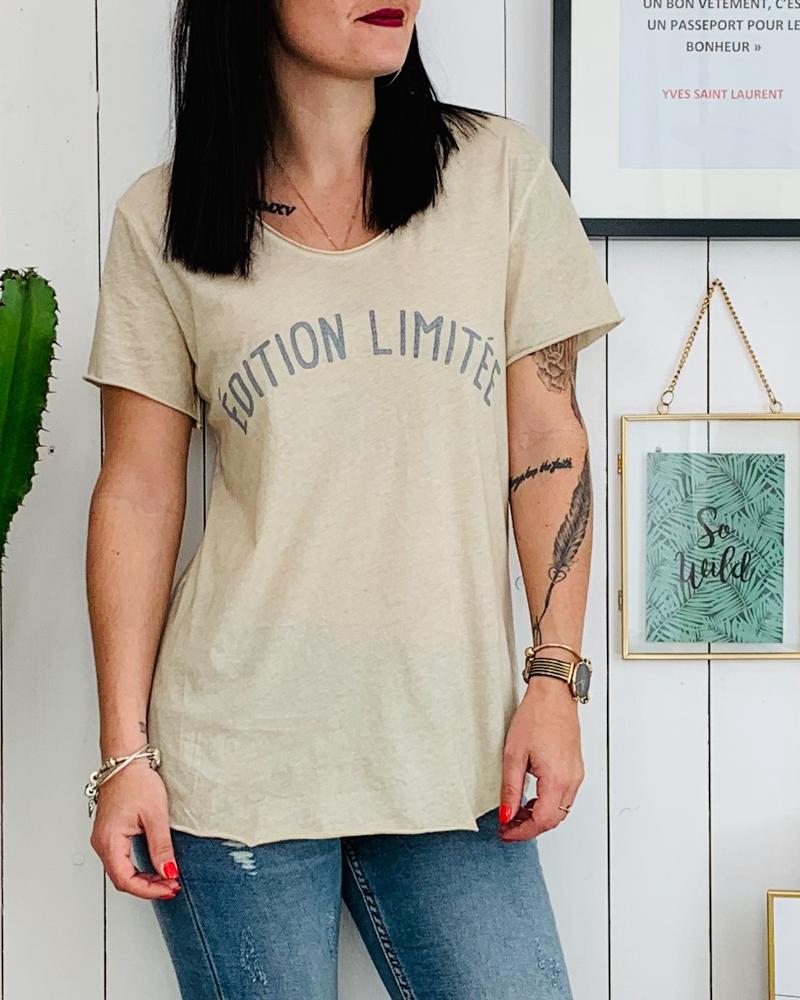 T-shirt EDITION LIMITEE beige