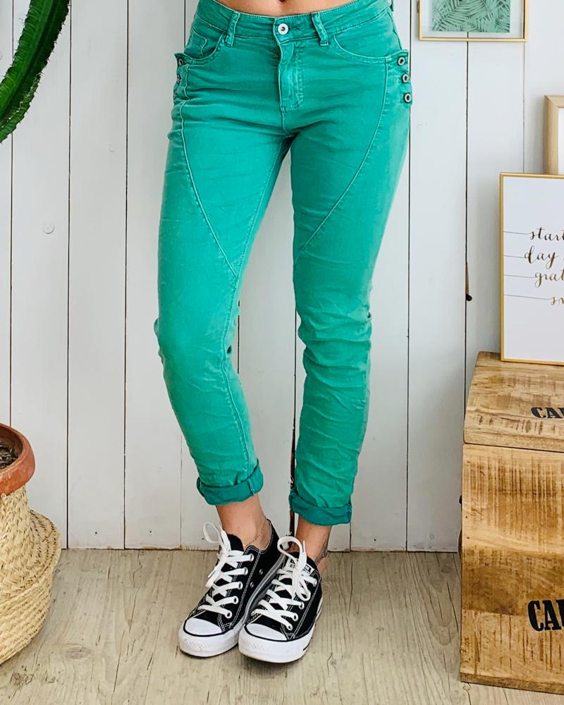 Pantalon MARTY vert menthe