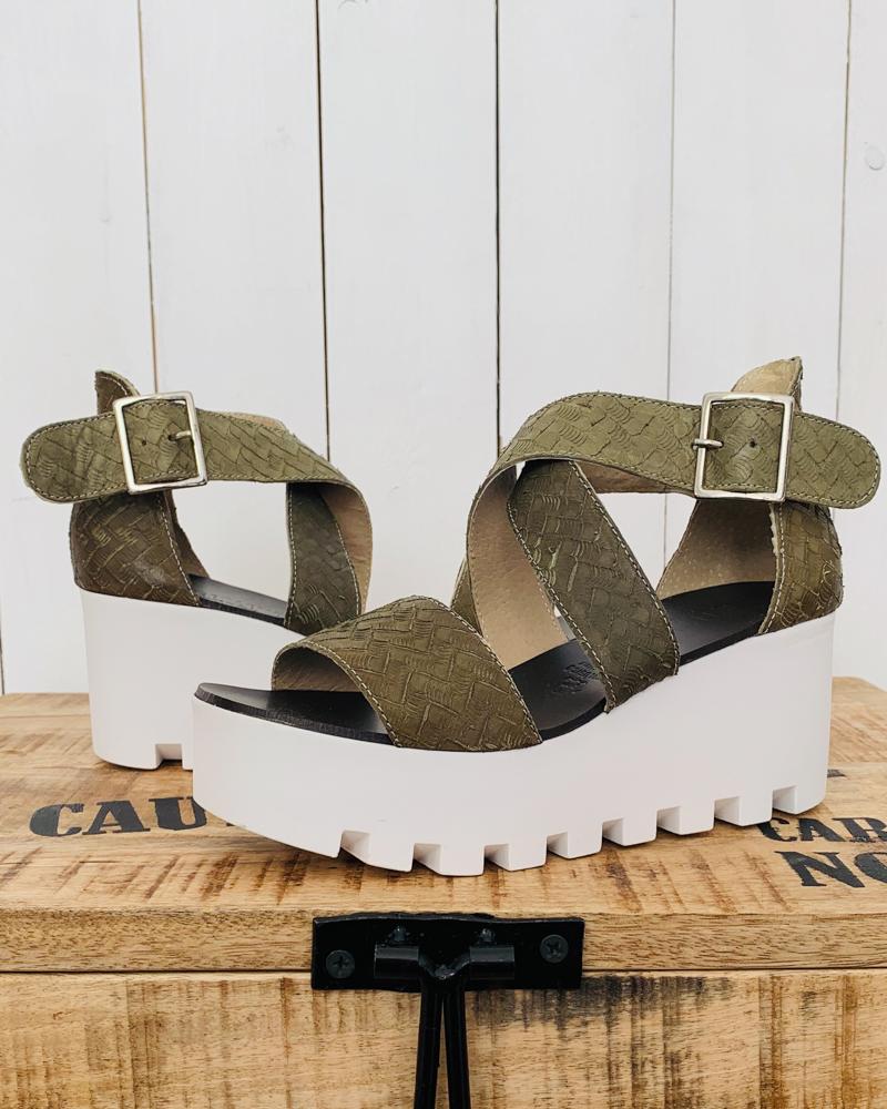 Sandales SUBWAY kaki