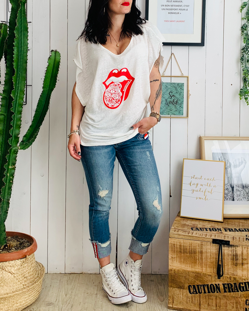 T-shirt MILK blanc
