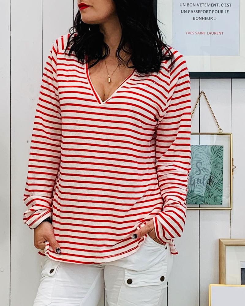 T-shirt BASTIA rouge