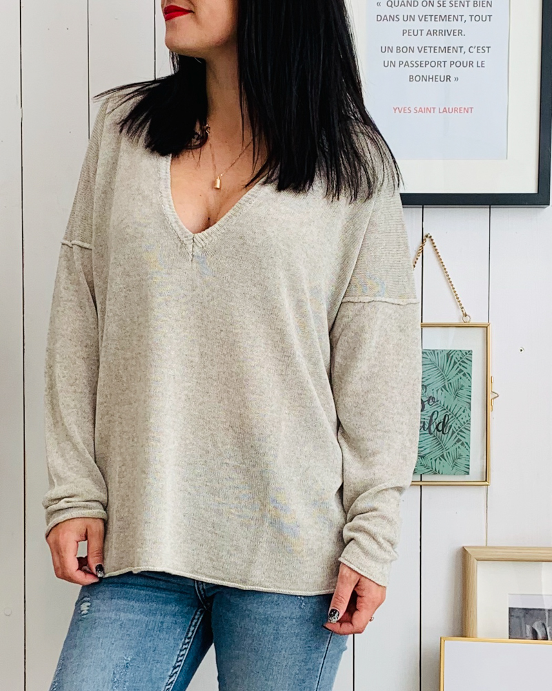 Pull LOLY beige