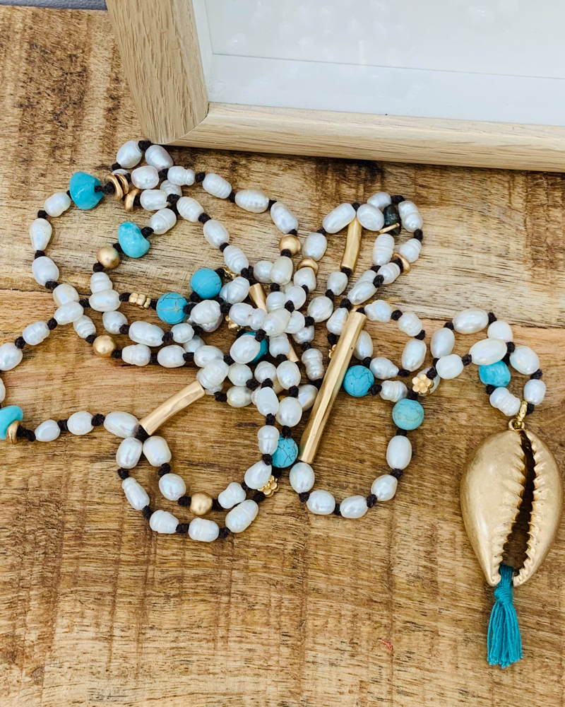 Collier SHELLY turquoise