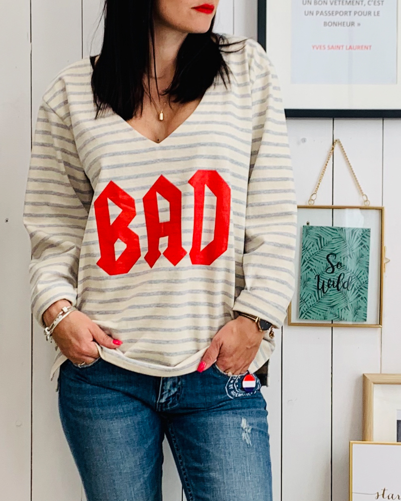 Sweat fin BAD rouge