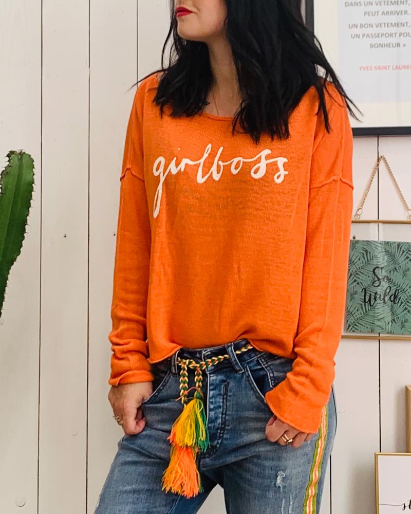 Pull GIRL BOSS orange