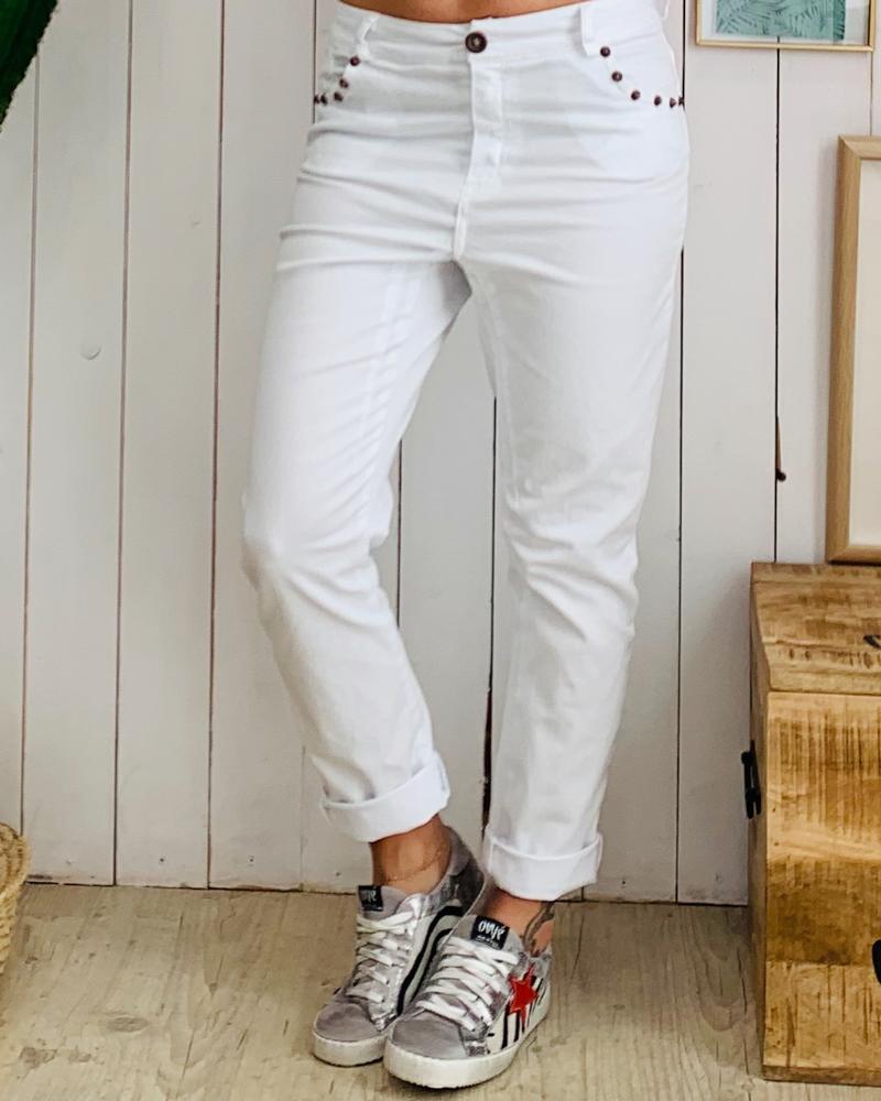 Pantalon PAOLO blanc