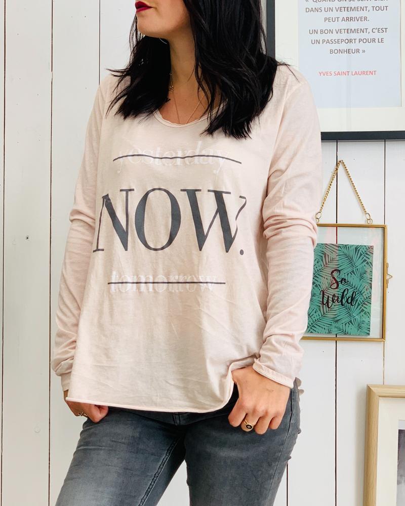 T-shirt NOW rose