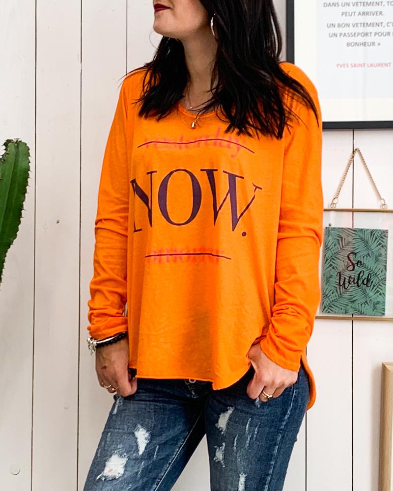 T-shirt NOW orange