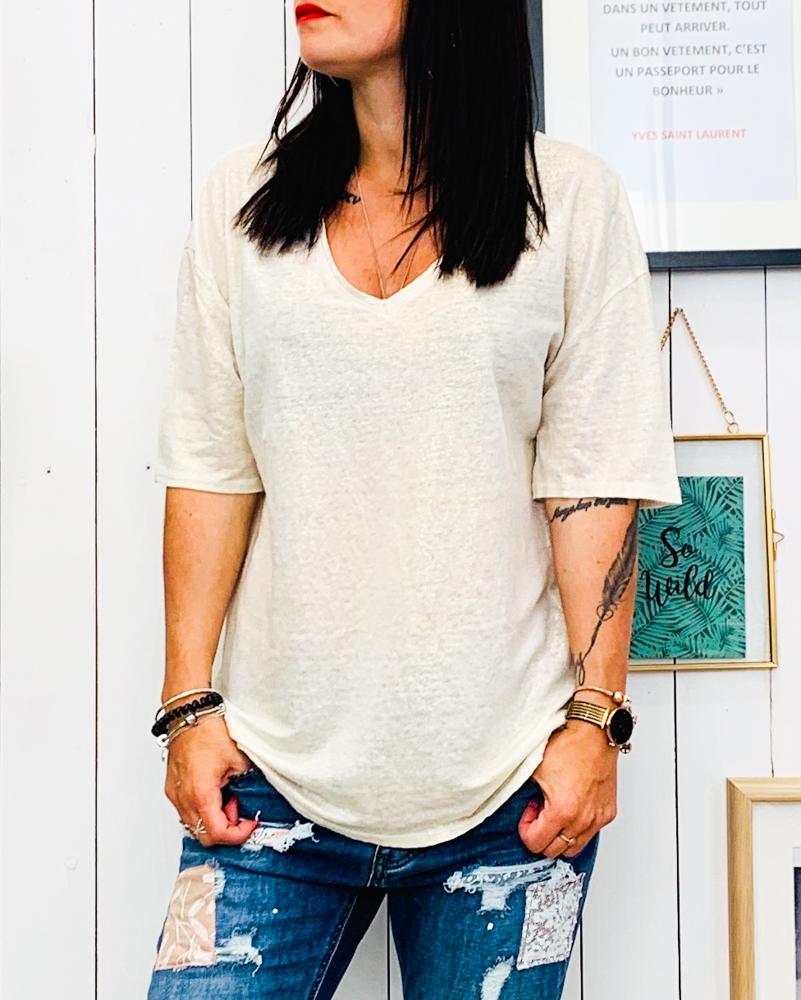 T-shirt TALLYA beige