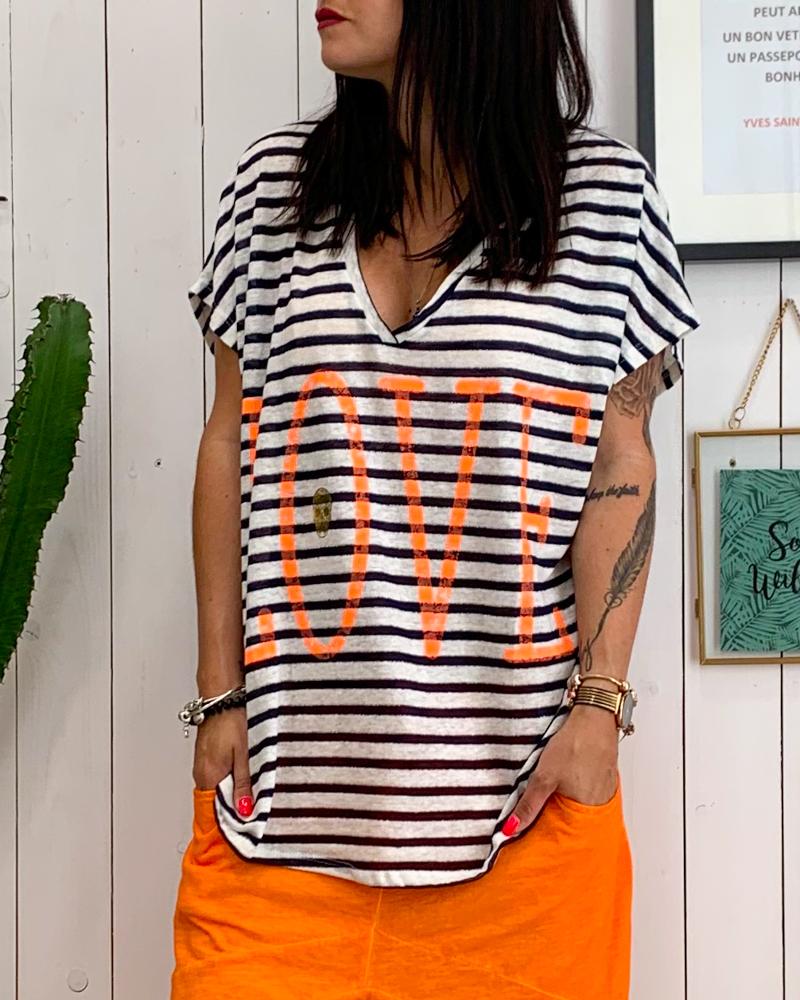 T-shirt LOVE orange MC