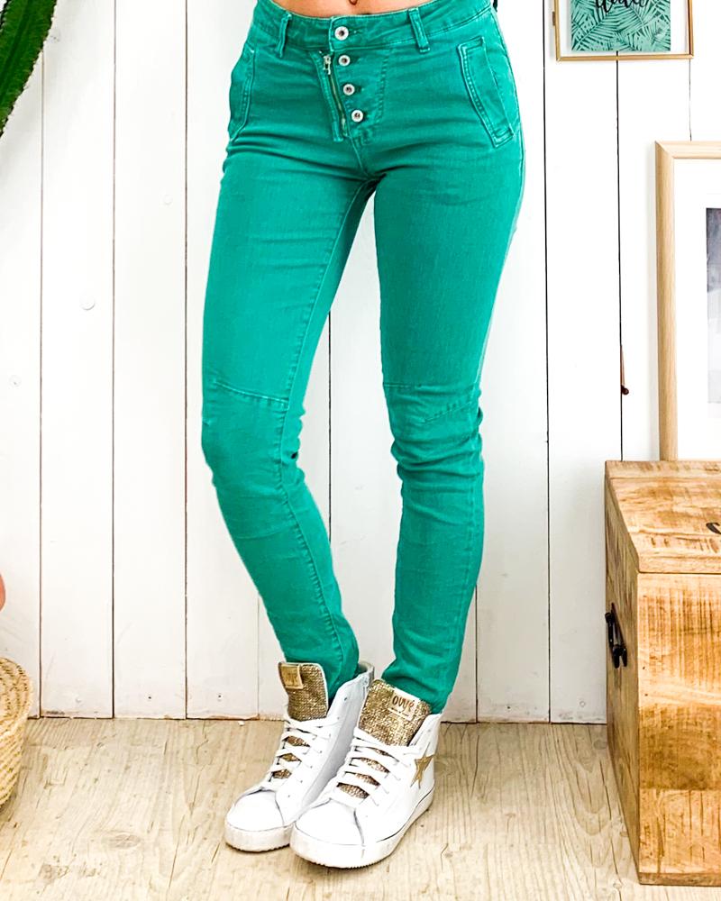 Pantalon DAVID vert d\'eau