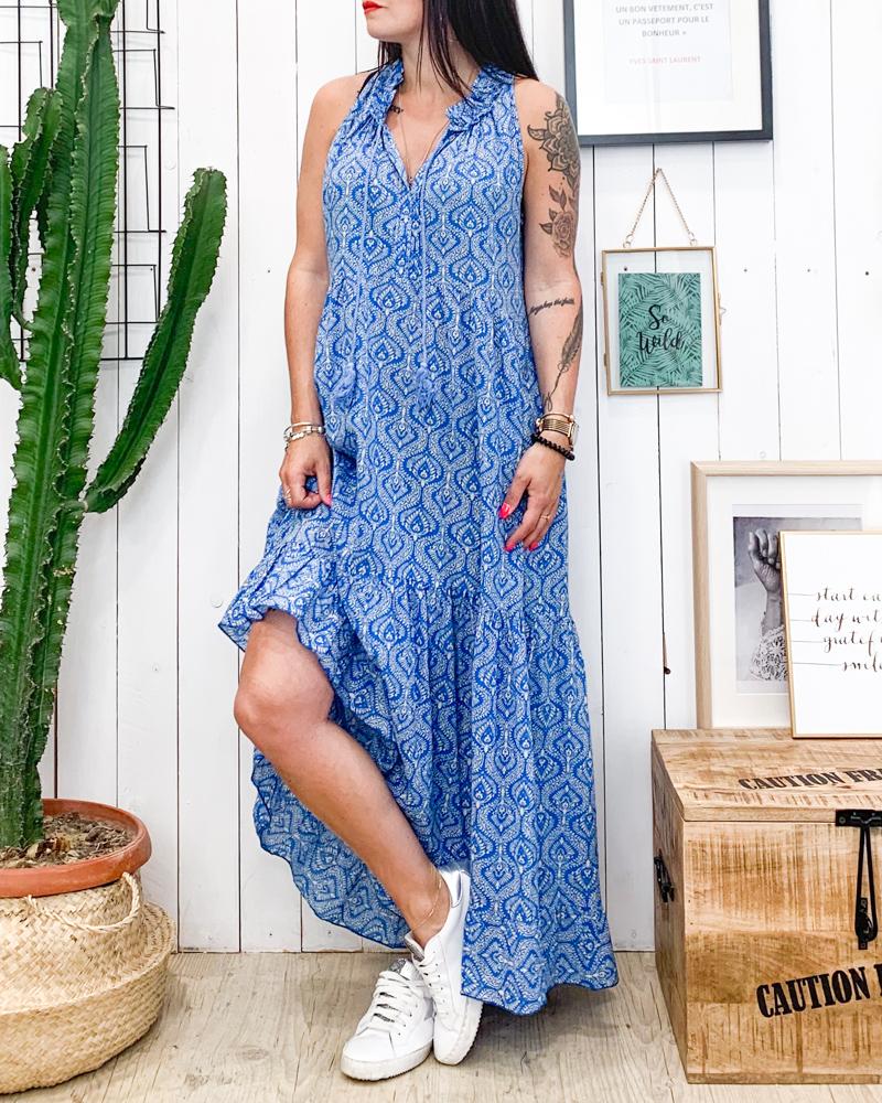 Robe OLINA bleu