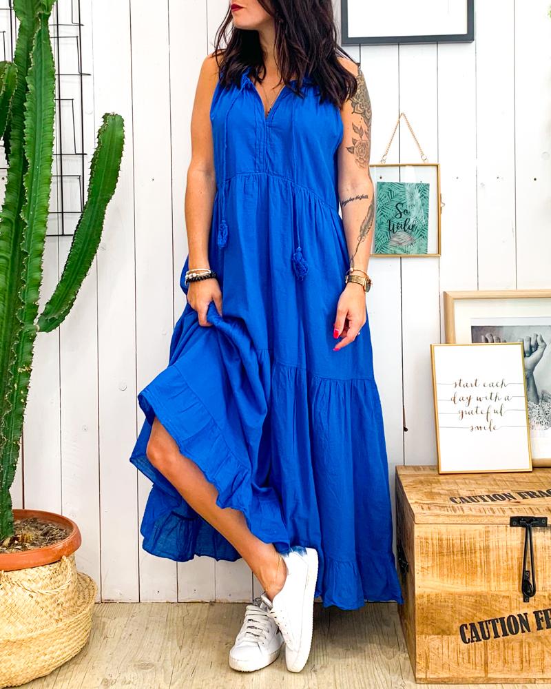 Robe AMBER bleu