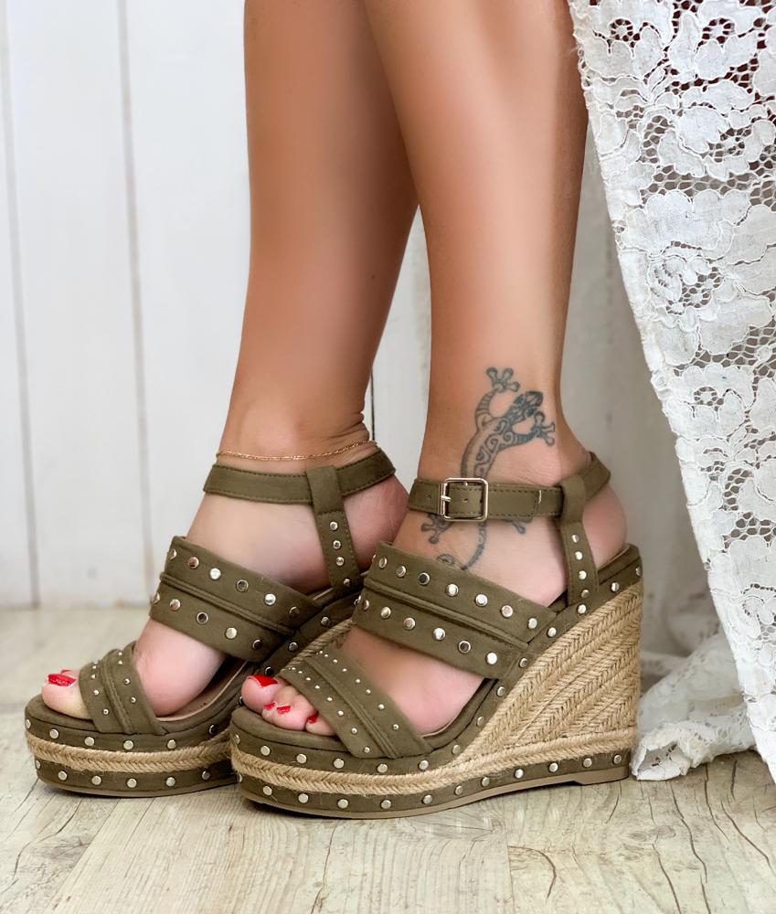 Sandales COLINE kaki