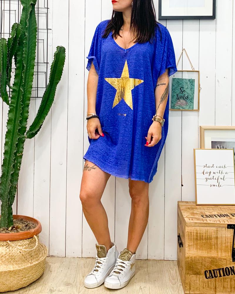 Tunique ETOILE bleu