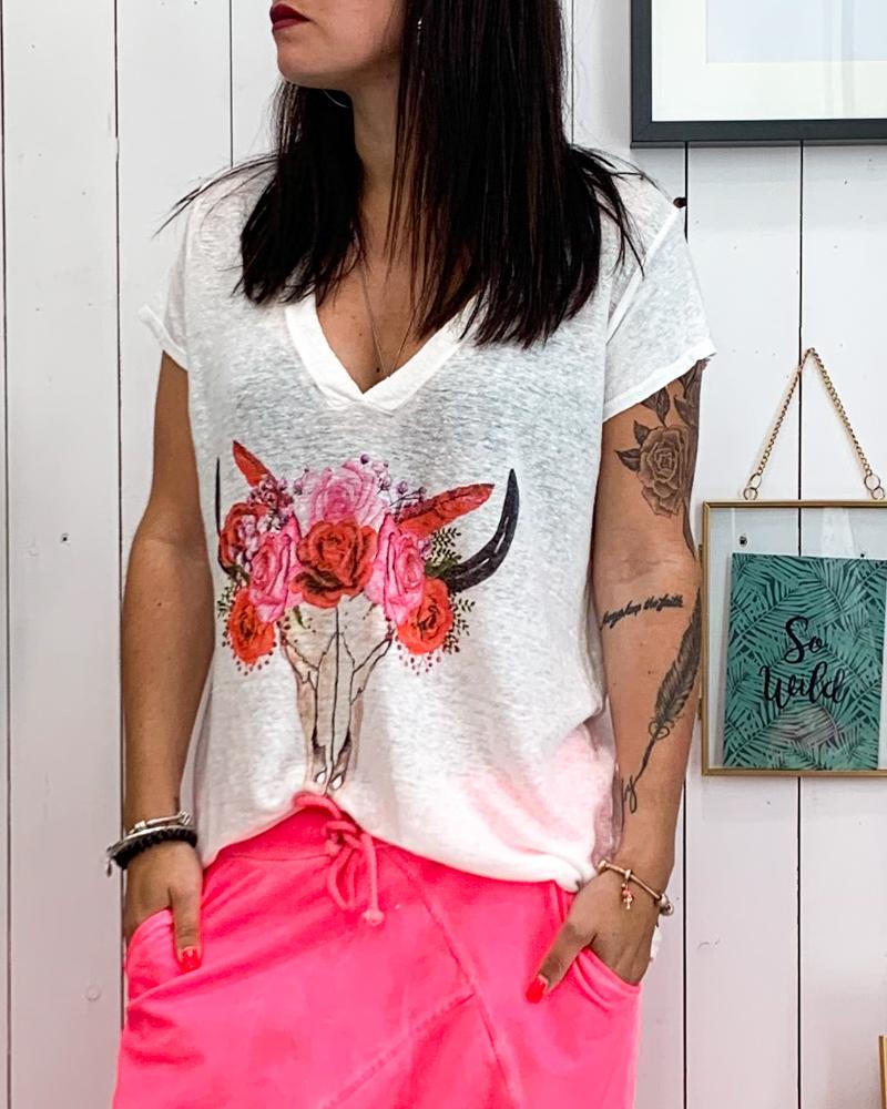 T-shirt BUFFLE blanc