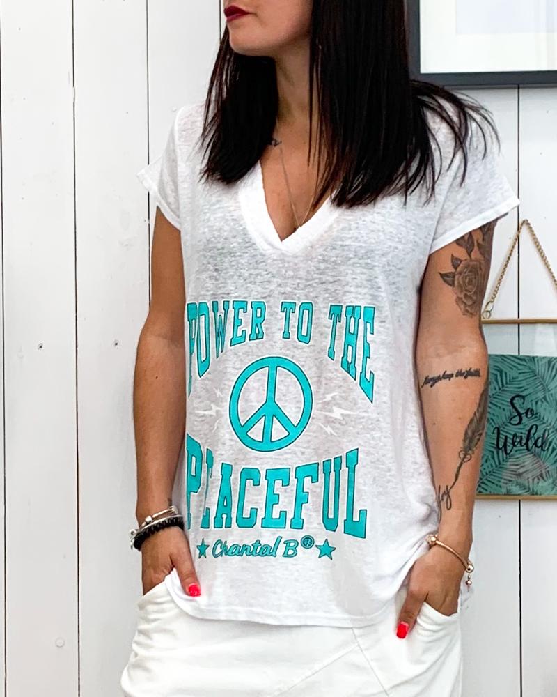T-shirt POWER blanc