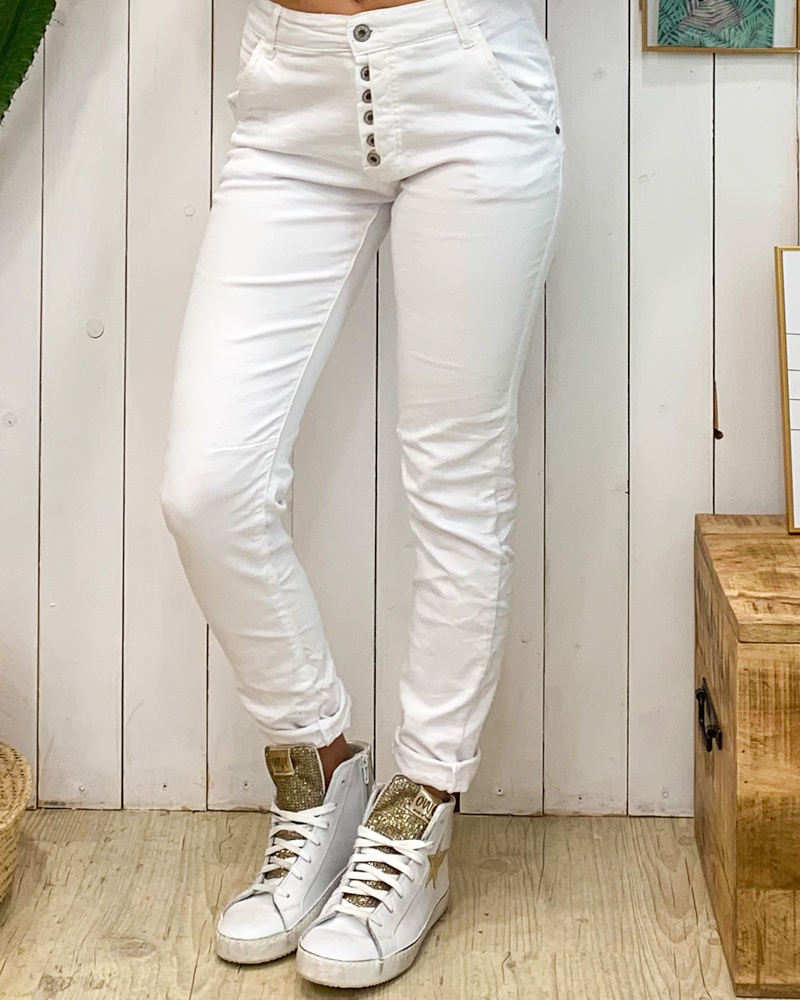 Pantalon FABIEN blanc