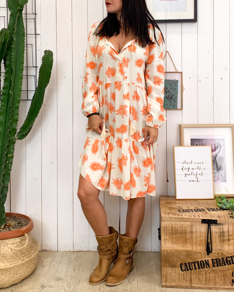 Robe BIANCA orange