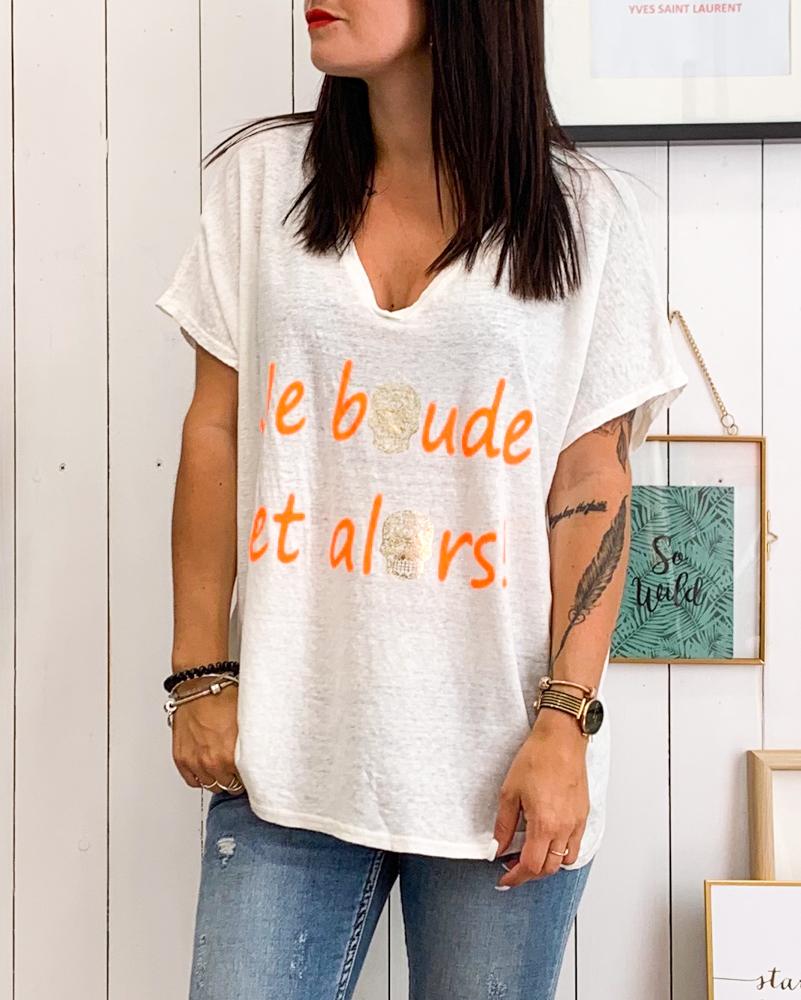 T-shirt ET ALORS blanc