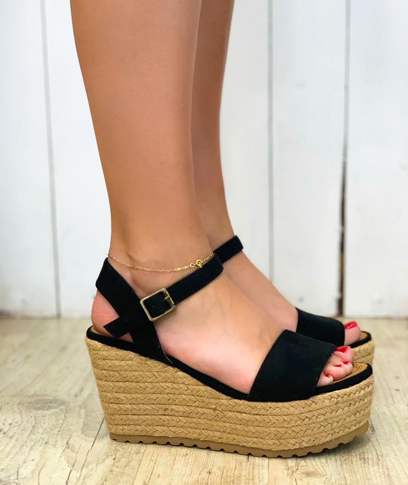 Sandales GAELLE noir