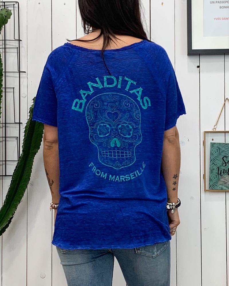T-shirt SOANN bleu
