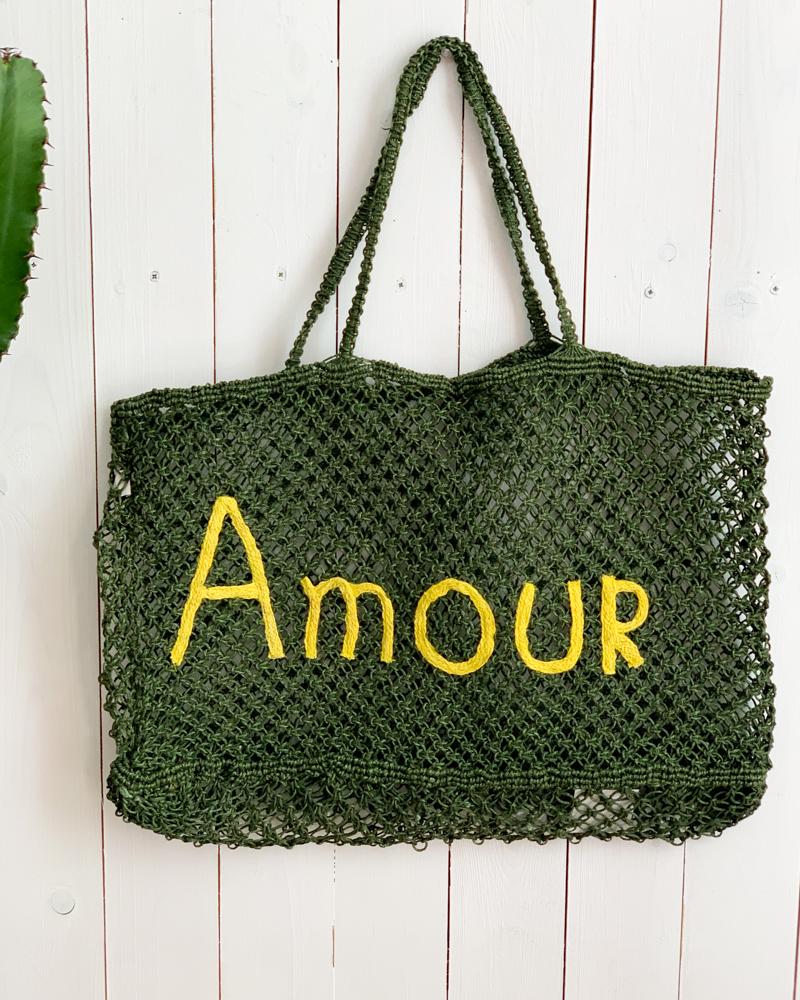 Sac AMOUR vert/jaune