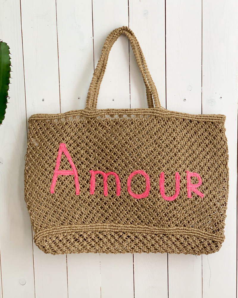 Sac AMOUR taupe/rose
