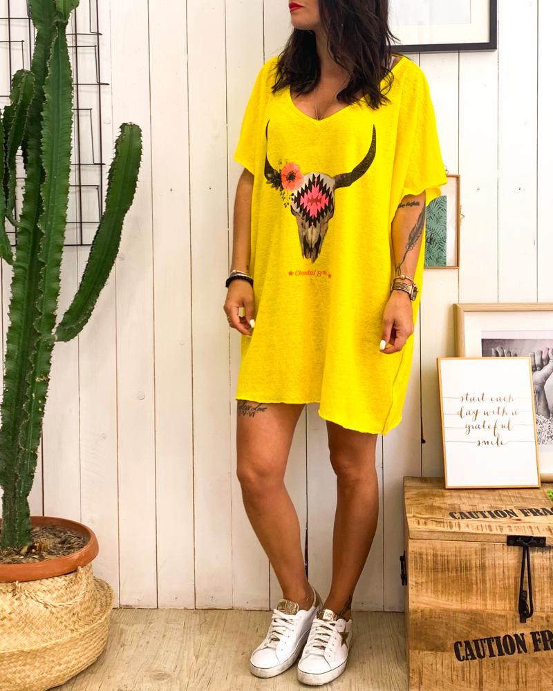 Tunique BUFFLE jaune