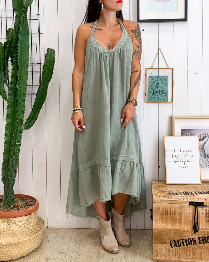 Robe BARBARA kaki