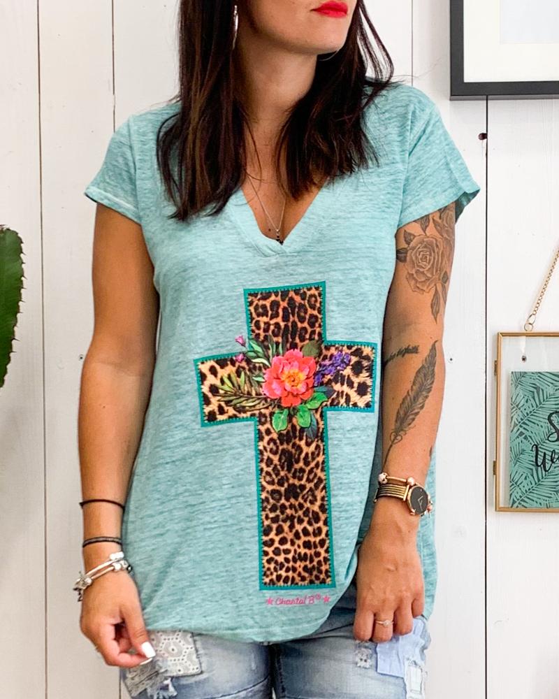 T-shirt CROSS turquoise