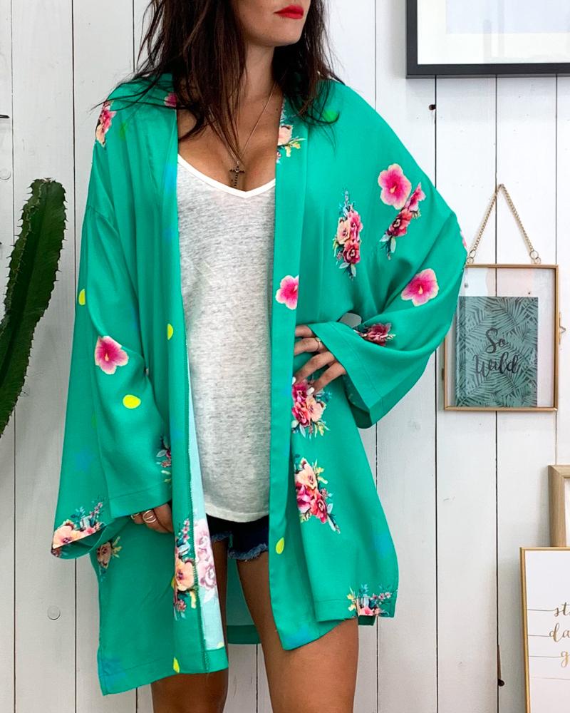 Kimono INDIANBOHO vert d\'eau