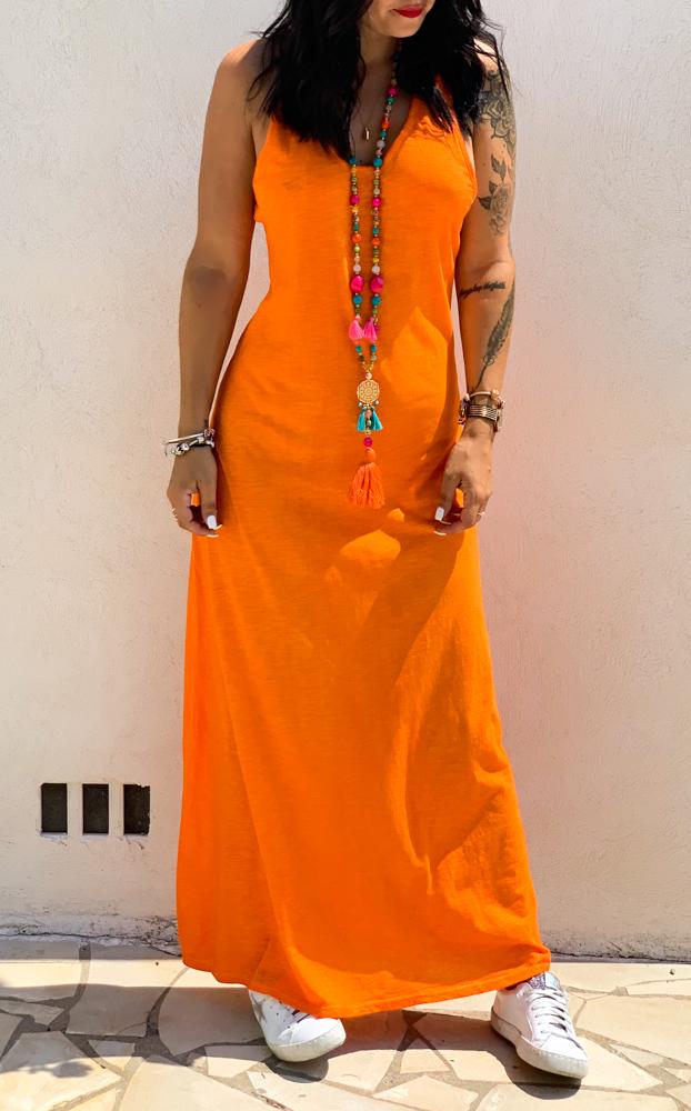 Robe ARREZZA orange longue