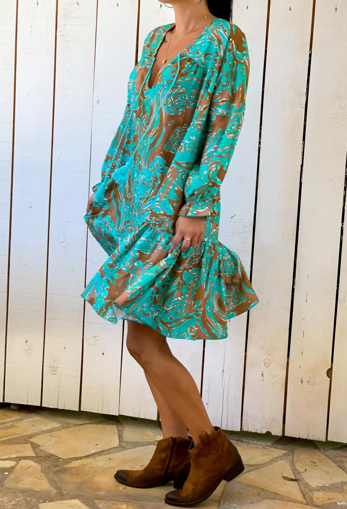 Robe ADELINE turquoise