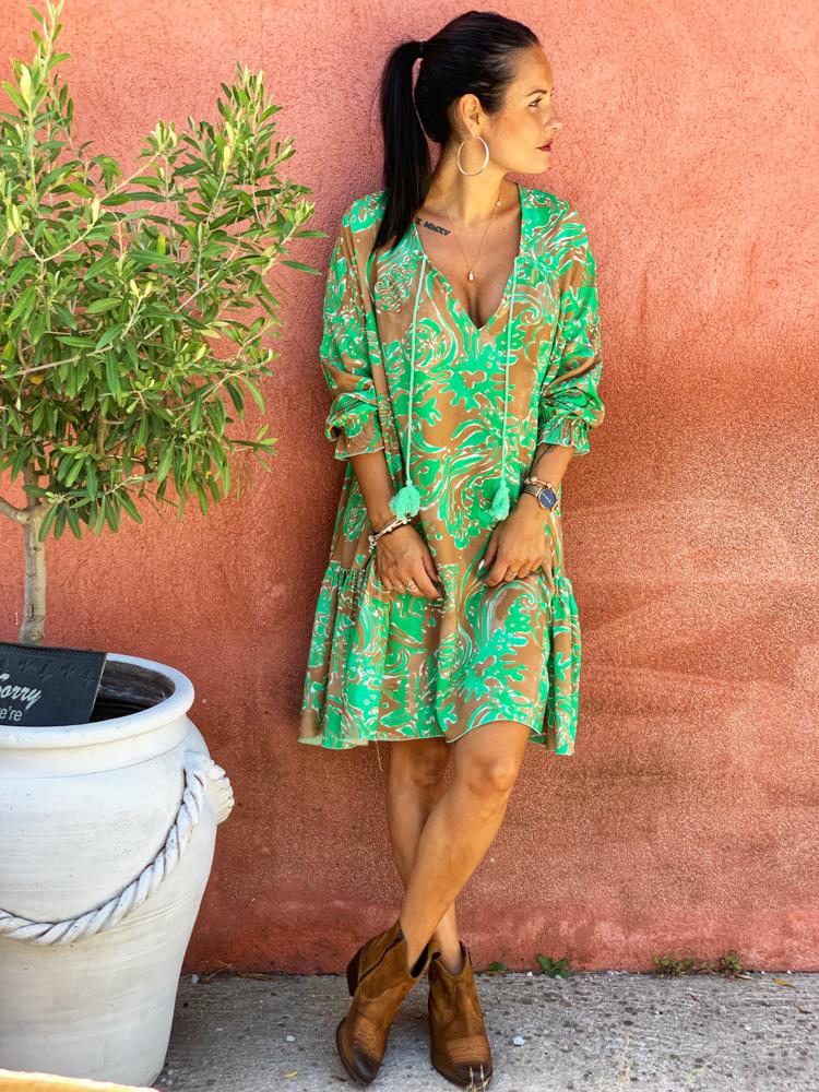 Robe ADELINE vert