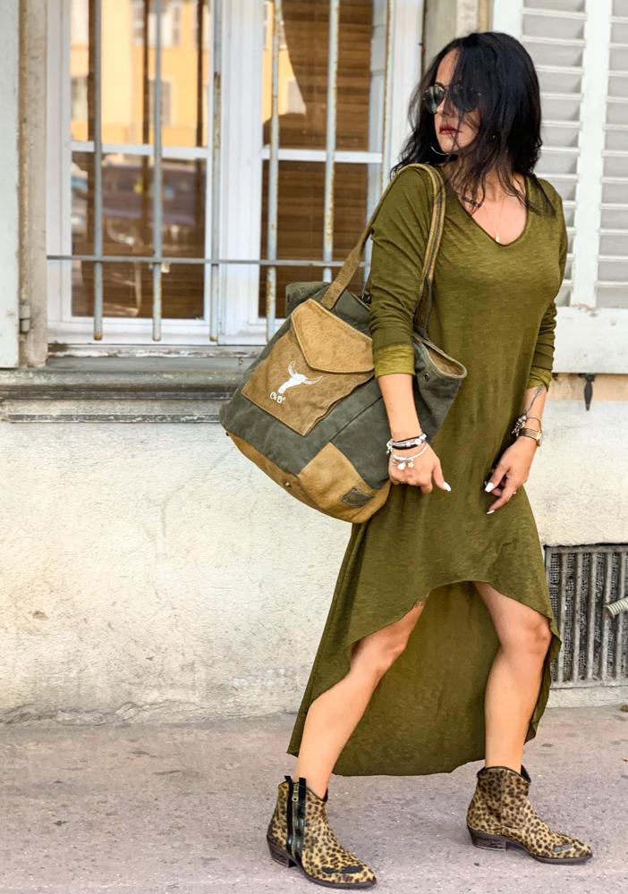 Robe DOLY vert vintage