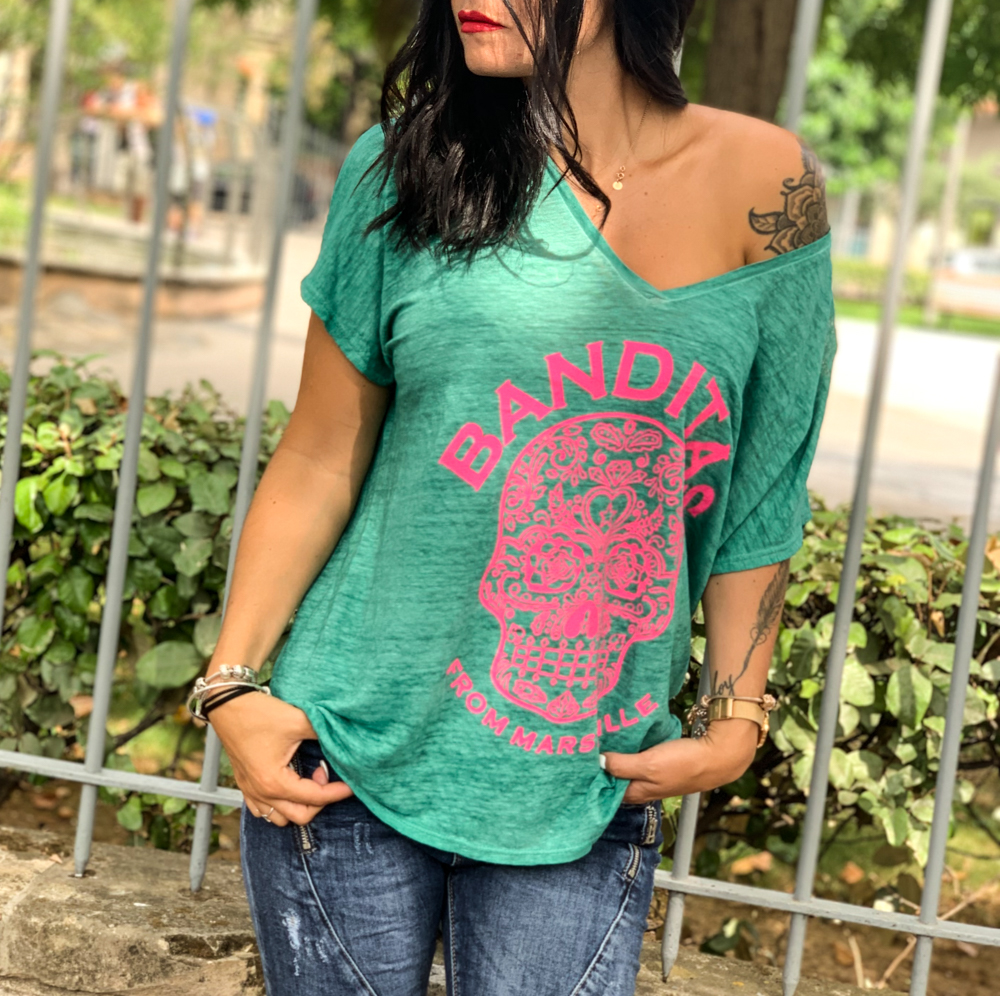 T-shirt ROMEO vert d\'eau