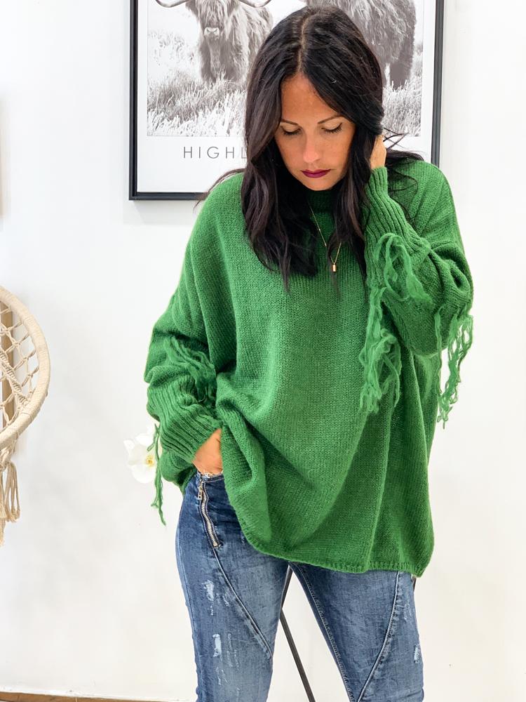 Pull Giulia vert