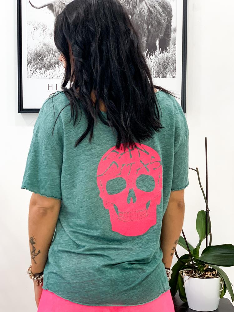 T-shirt Dalila vert canard