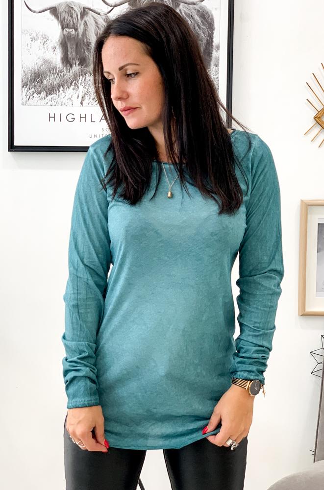 T-shirt CESENA bleu canard